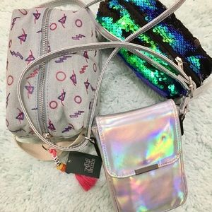 Wild Fable Crossbody Bag & Cosmetic Bags.